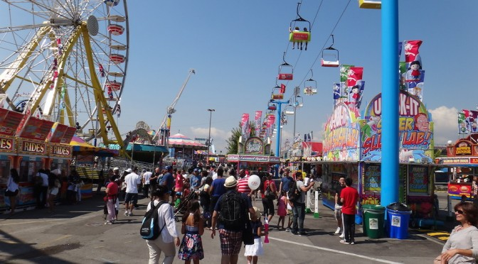 View of CNE midway