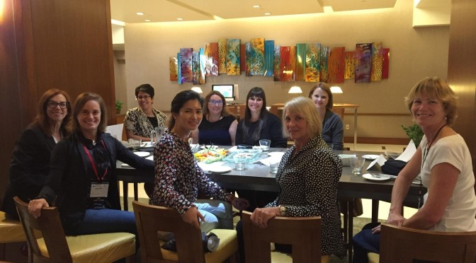 Some of the women of F24 at lunch