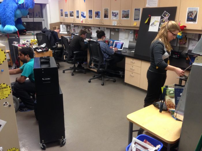 thrill lab with some students